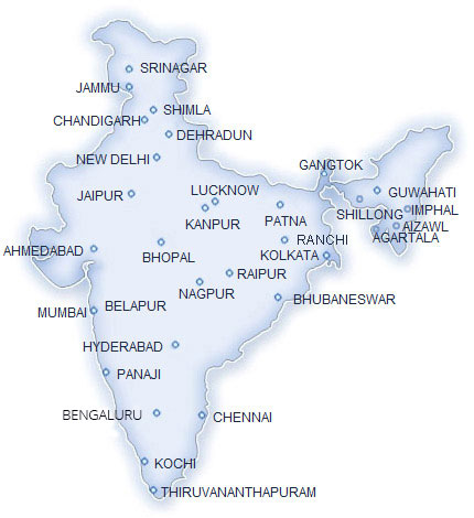 India offices map