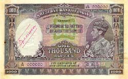 Image Rupees One Thousand