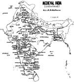 Map of Medieval India